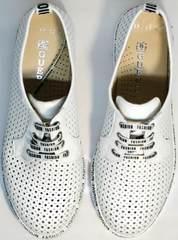 Летние спортивные туфли сникерсы женские летние GUERO G177-63 White.