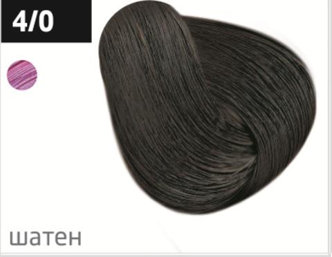OLLIN color 4/0 шатен 100мл перманентная крем-краска для волос