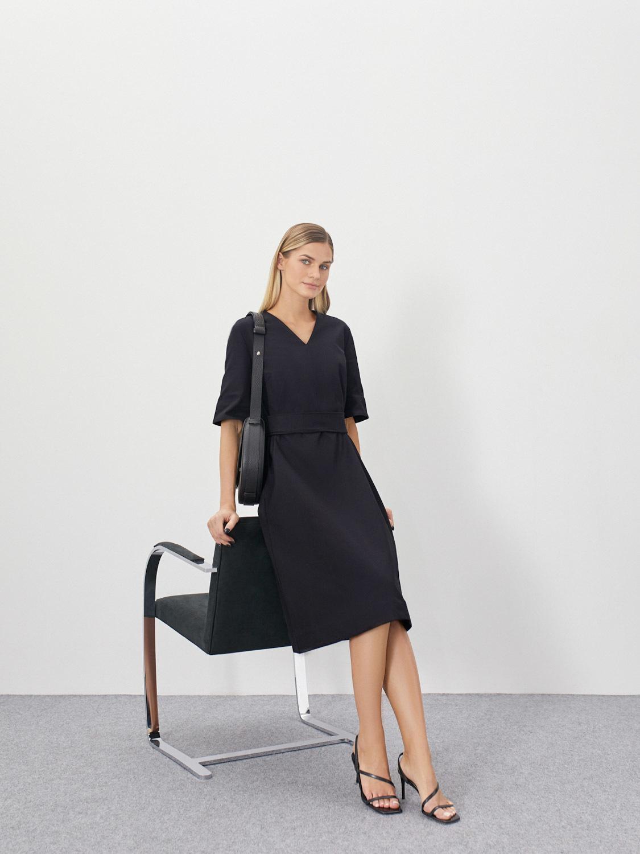 Платье Amanda с широкими рукавами и поясом
