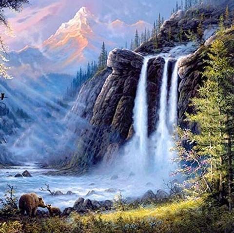 Алмазная Мозаика 40x50 Могучий водопад (арт. SGA0950 )