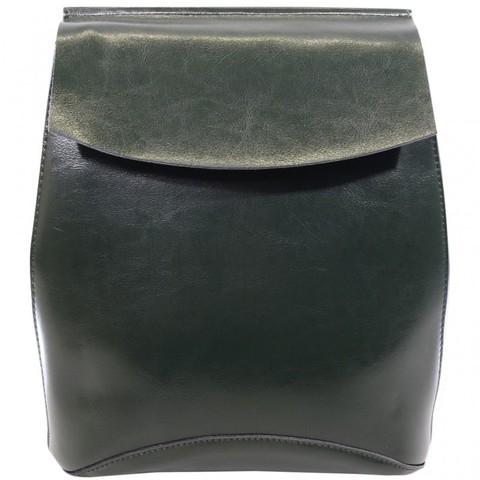 Женский зеленый рюкзак из кожи 2191
