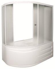 Шторка для ванны 1Marka DIANA 4604613103415 170х105х140 MW каркас белый, стекло Мислайт