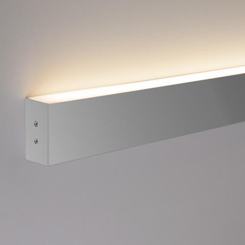 Линейный светодиодный накладной односторонний светильник 103см 20Вт 6500К матовое серебро 100-100-30-103