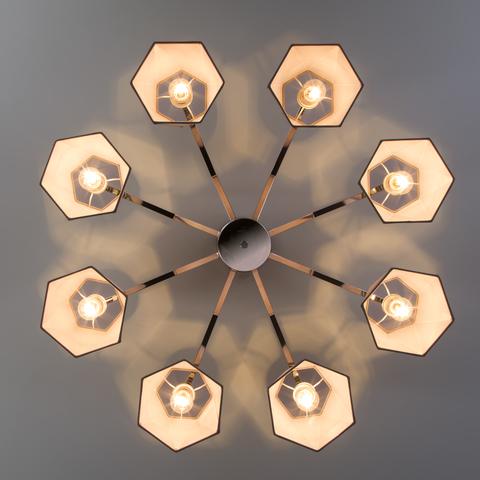 Потолочная люстра с абажурами 60076/8 хром