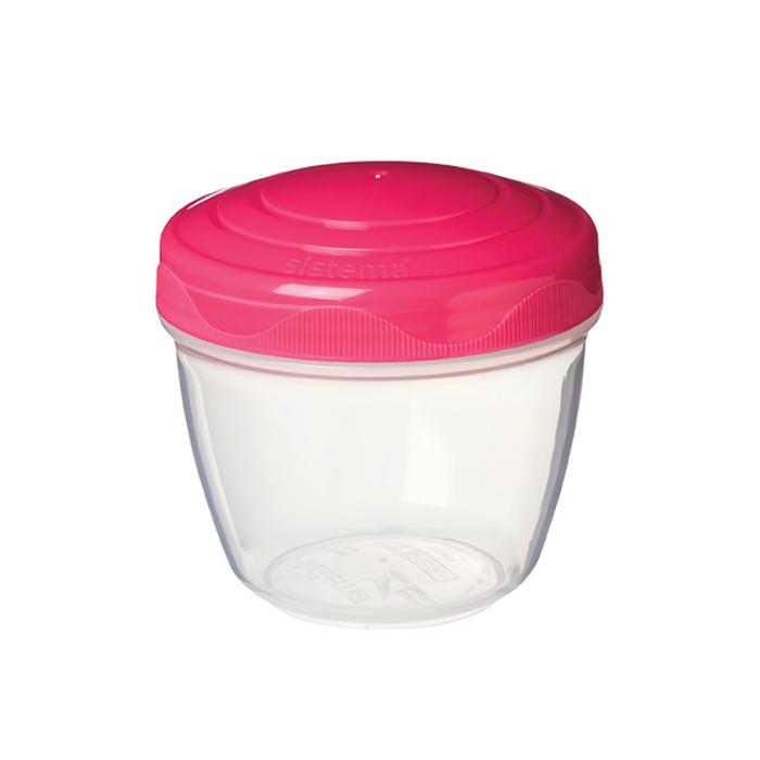 """Контейнер для йогурта Sistema """"TO GO"""" 305 мл, цвет Розовый"""