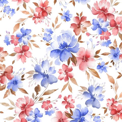 разноцветные акварельные цветы
