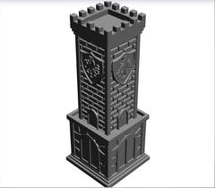 Силиконовый молд № 4  Башня ( серия шахматы Рыцари )  по штучно