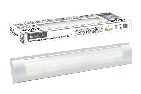 Светодиодный светильник LED ДПО 3017 1800 лм 2х9 Вт, 6500К Народный