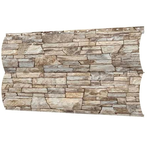 Металлический сайдинг под бревно блок-хаус Камень серый