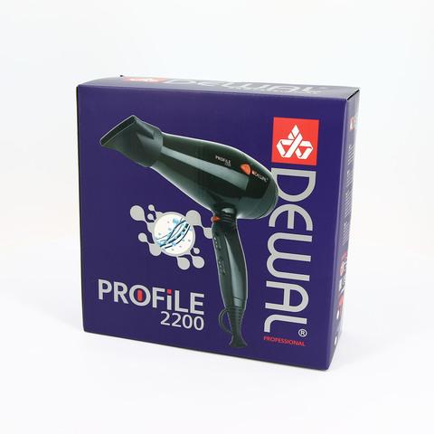 Фен Dewal Profile, 2200 Вт, ионизация, 2 насадки, черный
