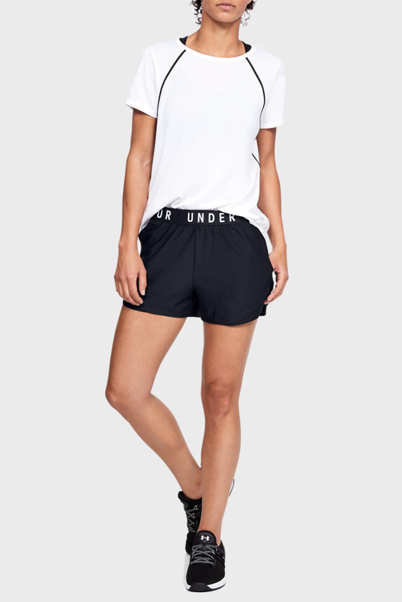 Женские черные спортивные шорты Play Up Short 3.0 Under Armour