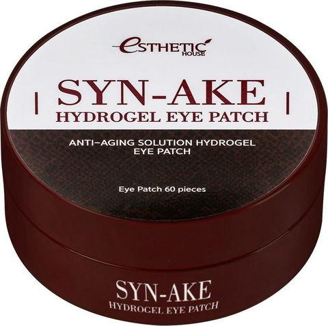 Гидрогелевые патчи для глаз ЗМЕИНЫЙ ПЕПТИД Syn-Ake Hydrogel Eye Patch, 60 шт, ESTHETIC HOUSE