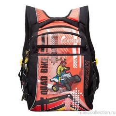 Çanta \ Bag \  Рюкзак школьный (/2 черный - оранжевый) RB-631-1