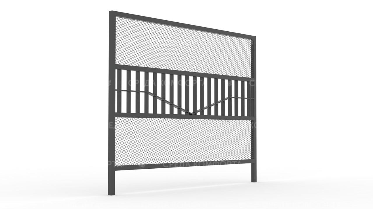 Забор из сетки рабицы ZBR0171