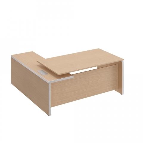Стол руководителя с брифинг-приставкой боковой, правой (180x180x76)