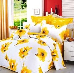 Сатиновое постельное бельё  1,5 спальное Сайлид  В-9