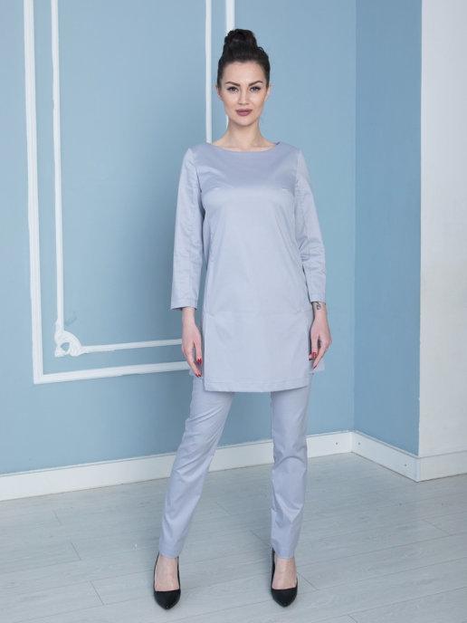 Медицинская блуза Бл-344 3/4 клеон экстра