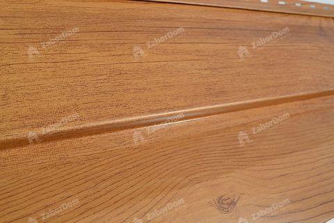 Металлический сайдинг под дерево Металл Профиль корабельная доска Ecosteel Сосна 0,5 мм