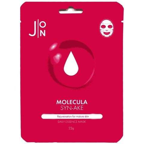 Тканевая маска для лица ЗМЕИНЫЙ ПЕПТИД J:ON Molecula Syn-Ake Daily Essence Mask, 10шт * 23 мл