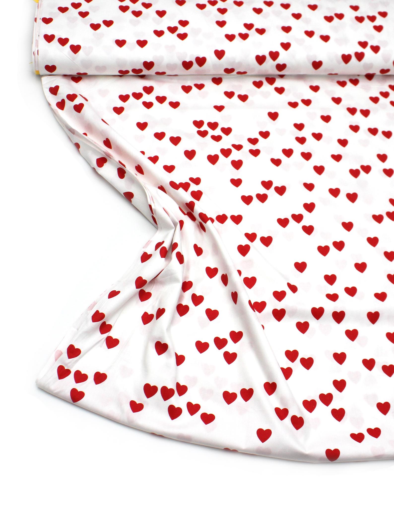 Сердечки красные