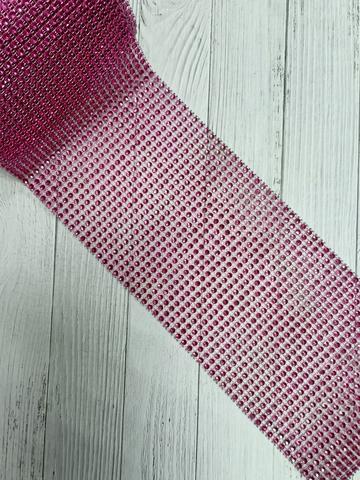 Стразы на тканевой основе, лиловый, размер 11.5см*100см