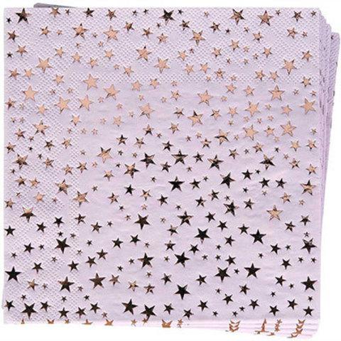 Салфетки Гламур Pink&RoseGold, 16 штук