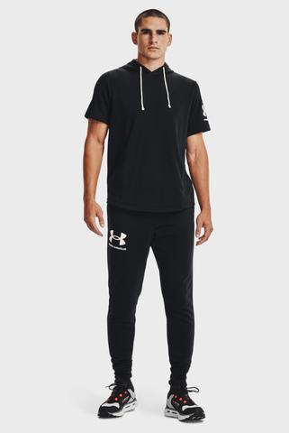 Мужские черные спортивные брюки UA RIVAL TERRY JOGGER Under Armour