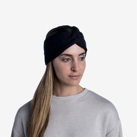 Вязаная повязка на голову Buff Headband Knitted Norval Graphite фото 2