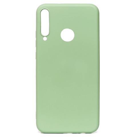 Чехол для Huawei Honor 9С/P40 Lite E Софт тач мягкий эффект   микрофибра светло-зеленый