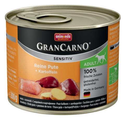 Консервы Animonda Gran Carno Sensitiv c индейкой и картофелем для собак с чувствительным пищеварением