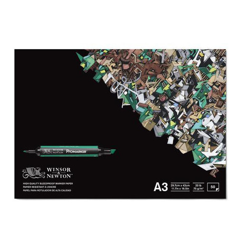 Альбом для маркера WINSOR&NEWTON Promarker 75г/кв.м А3 297х420мм 50л склейка