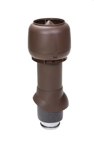 Вентиляционный выход 125 из 500 Vilpe коричневый