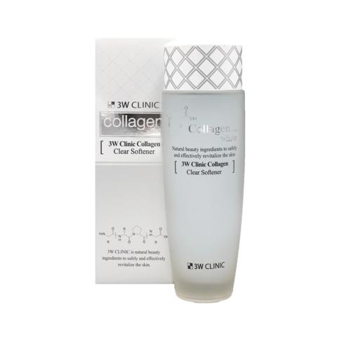 Осветляющий софтнер для лица с коллагеном 3W CLINIC Collagen White Clear Softener 150 мл
