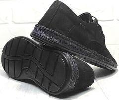 Стильные мокасины мужские туфли лето стиль кэжуал мужской Luciano Bellini 91754-S-315 All Black.