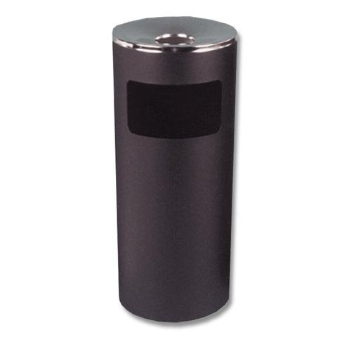 Урна металлическая с пепельницей, 600х250 мм, черная