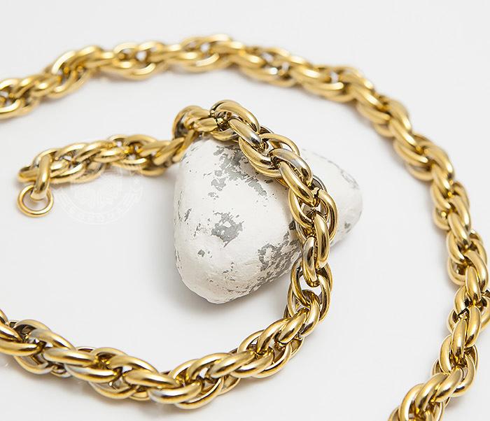 PM247-2 Оригинальная мужская цепь из стали золотистого цвета (55 см)