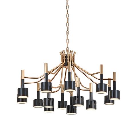 Подвесной светильник копия Ella by Delightfull (15 плафонов, черный)