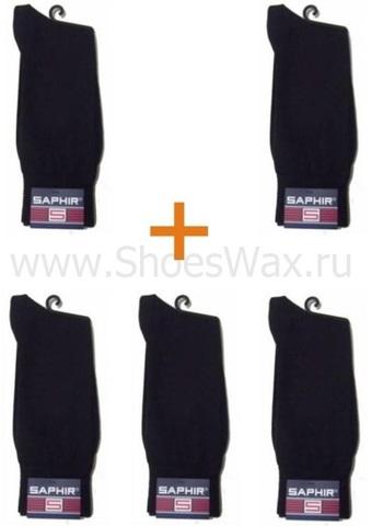 Набор мужских носков с укрепленным мыском и пяткой,хлопок-нейлон, sphr63801 Saphir (5 пар)