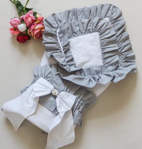 Одеяло - конверт на выписку, чепчик