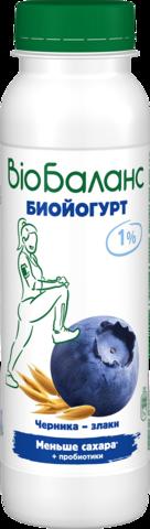 """Биойогурт """"Био-Баланс"""" черника и злаки 1% 270 г"""