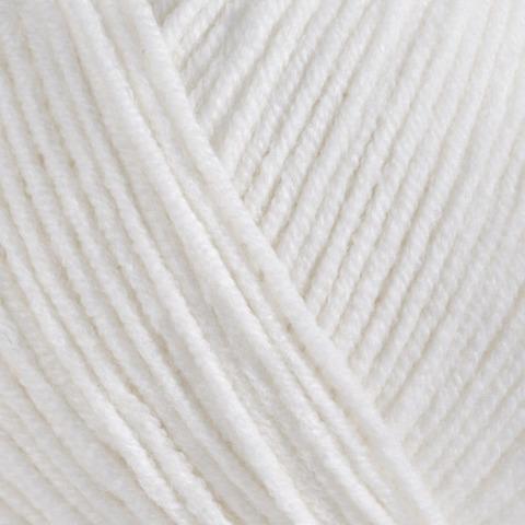 Пряжа Gazzal Jeans 1101 белый
