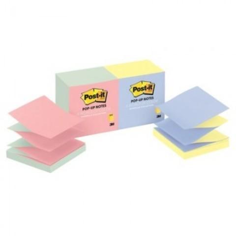 Стикеры Z-сложения Post-it Original 76х76 мм пастельные 2 цвета для диспенсера (12 блоков по 100 листов)