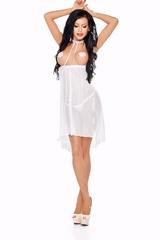Открытая эротическая сорочка Lucy белая