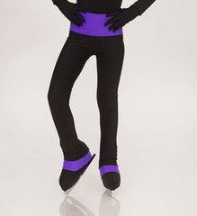 Брюки из термоткани с широким поясом (фиолетовый)