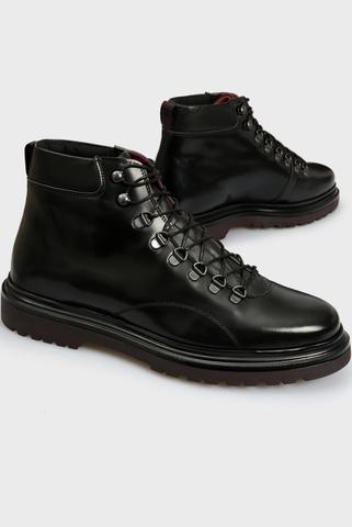 Мужские черные кожаные ботинки BEAUMONT Gant