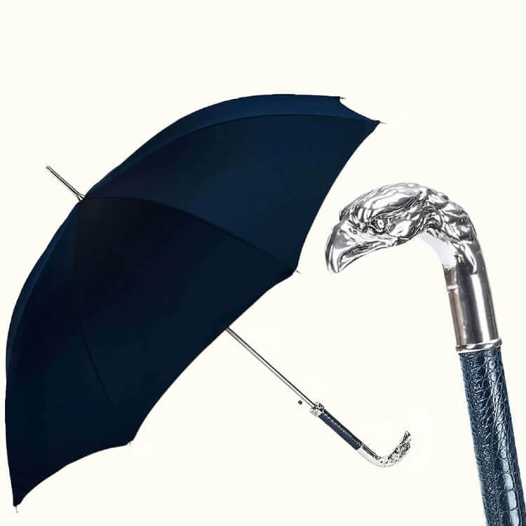 Зонт-трость Pasotti-478 Oxf-14 W18C-Blue Silver Eagle