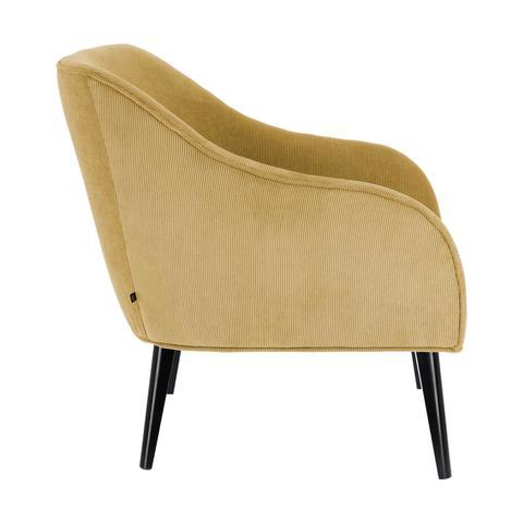 Кресло Lobby вельвет горчица