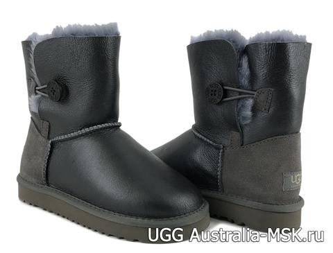 UGG Kids Balley Button Metallic Grey
