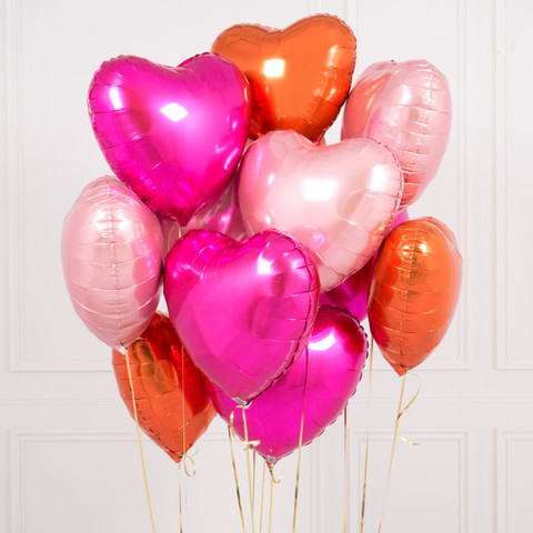 Фольгированные шары сердца Ягодный бум