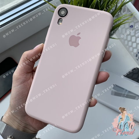 Чехол iPhone XR Silicone Slim Case /pink sand/